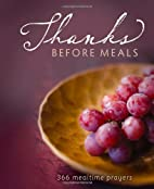 Thanks Before Meals by Zondervan