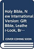 Holy Bible, New International Version Gift Bible, Leather Look, Brown