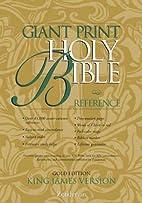 KJV Giant Print Reference Bible, Gold…