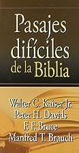 Pasajes Dificiles de la Biblia (Spanish…