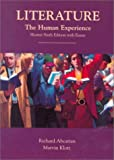 Abcurian, Richard: Literature: The Human Experience, Shorter Sixth Edition With Essays