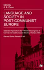 Language and society in post-Communist…