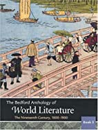 The Bedford Anthology of World Literature…