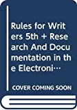 Hacker, Diana: Rules for Writers 5e & Research and Documentation in the Electronic Age 4e