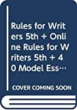 Hacker, Diana: Rules for Writers 5e & Online Rules for Writers 5e & 40 Model Essays