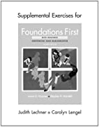 Supplemental Exercises for Foundations First…