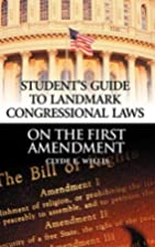 Student's Guide to Landmark Congressional…