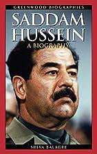 Saddam Hussein: A Biography (Greenwood…
