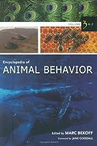 Encyclopedia of Animal Behavior, Vol. 3: R-Z…