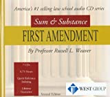 Russell L. Weaver: Sum and Substance Audio Set CD on First Amendment