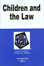 Children and the Law in a Nutshell by Sarah…