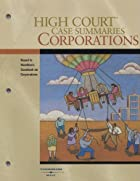 High Court Case Summaries on Corporations,…