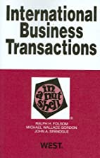 International business transactions in a…