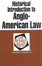 Historical introduction to Anglo-American…