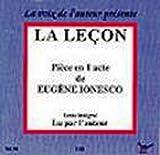Eugene Ionesco: La Lecon audio cd