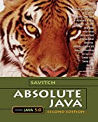 Absolute Java by Walter Savitch