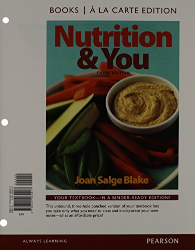 nutrition-you-books-a-la-carte-plus-masteringnutrition-with-mydietanalysis-with-etext-access-card-package-3rd-edition