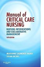 Manual of Critical Care Nursing: Nursing…