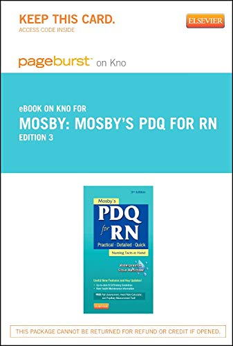 mosbys-pdq-for-rn-elsevier-on-intel-education-study-retail-access-card-practical-detailed-quick-3e