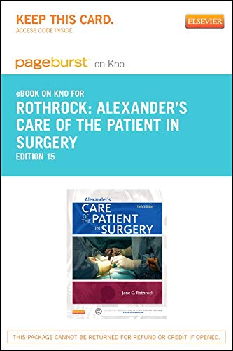 alexanders-care-of-the-patient-in-surgery-elsevier-on-intel-education-study-retail-access-card-15e