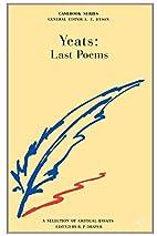 Last Poems: Manuscript Materials (Cornell…