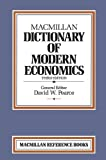 Pearce, David W.: Macmillan Dictionary of Modern Economics