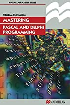 Mastering Pascal and Delphi programming by…