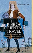 The Rise of Oriental Travel: English…