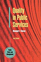 Quality In Public Services (Concilium) by…