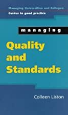 Managing Quality and Standards (Managing…