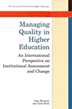 Managing Quality in Higher Education: An…
