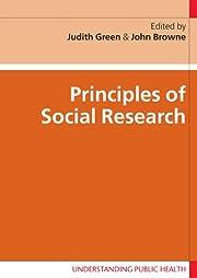 Principles of Social Research (Understanding…