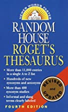 Random House Roget's Thesaurus: Second…