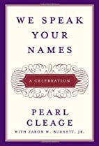 We Speak Your Names: A Celebration by Pearl…