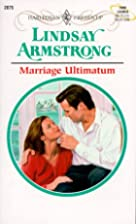 Marriage Ultimatum by Lindsay Armstrong