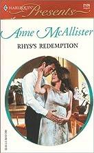 Rhys's Redemption by Anne McAllister
