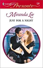 Just for a Night by Miranda Lee