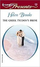 The Greek Tycoon's Bride by Helen Brooks