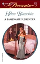 A Passionate Surrender by Helen Bianchin