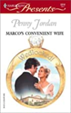 Marco's Convenient Wife by Penny Jordan