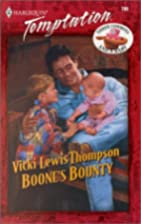 Boone'S Bounty (Three Cowboys & A Baby)…