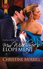Miss Winthorpe's Elopement (Harlequin…