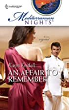 An Affair To Remember (Mediterranean Nights)…