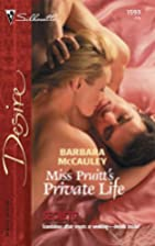 Miss Pruitt's Private Life by Barbara…