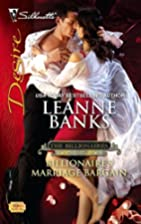 Billionaire's Marriage Bargain by Leanne…
