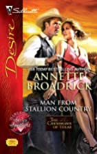 Man From Stallion Country by Annette…