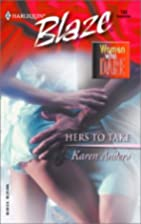 Hers to Take by Karen Anders