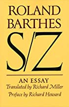 S/Z: An Essay by Roland Barthes