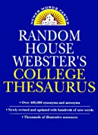 Random House Webster's College Thesaurus by…