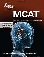 MCAT Verbal Reasoning & Writing Review…